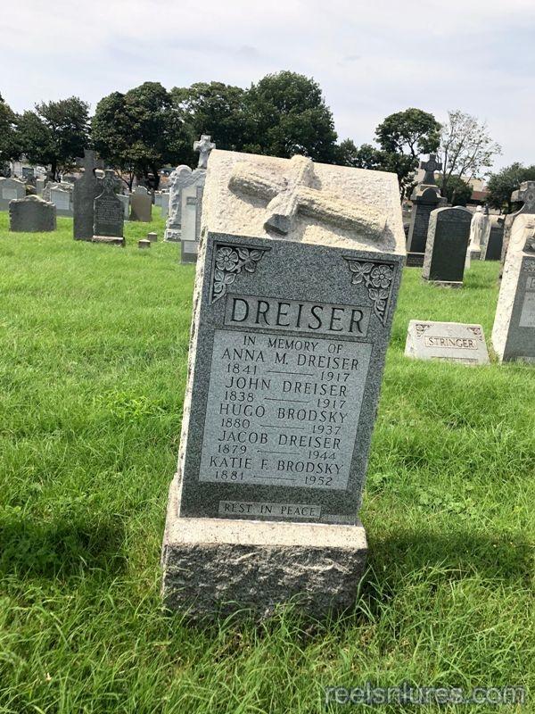 john dreiser tombstone