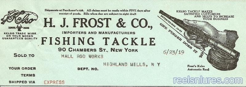 Frost Letterhead 1919