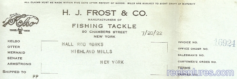Frost Letterhead 1922