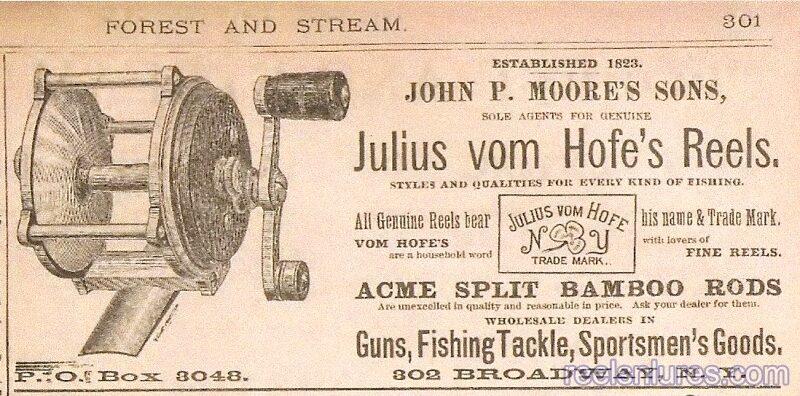 jvh clover leaf reel 1885 ad