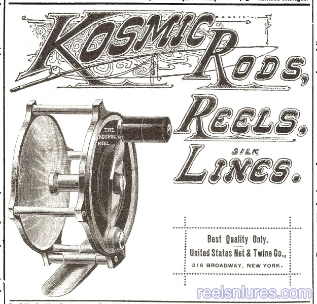 kosmic fly reel 1895 ad