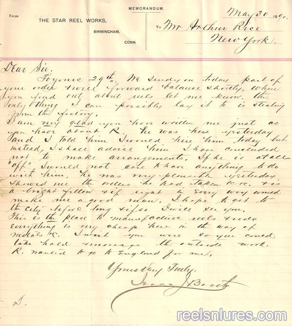 Boothe letter