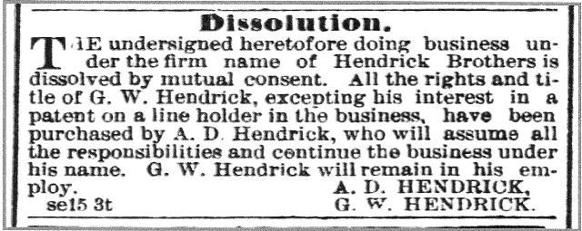 hendrick brothers dissolution