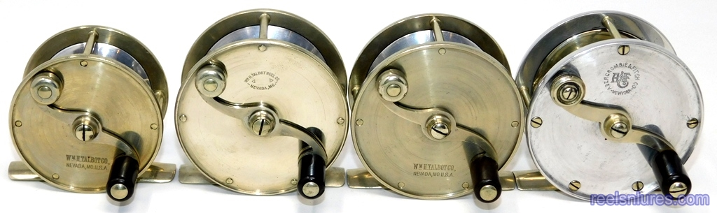 TALBOT BEN HUR Fly Reel Size and Marking Variations